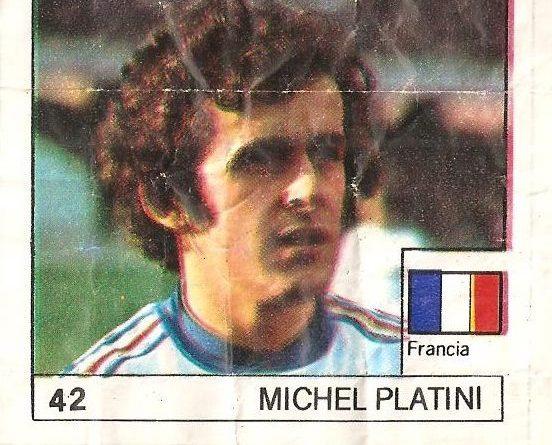 Super Cromos Los Mejores del Mundo (1981). Platini (Francia). Chicle Fútbol Boomer.