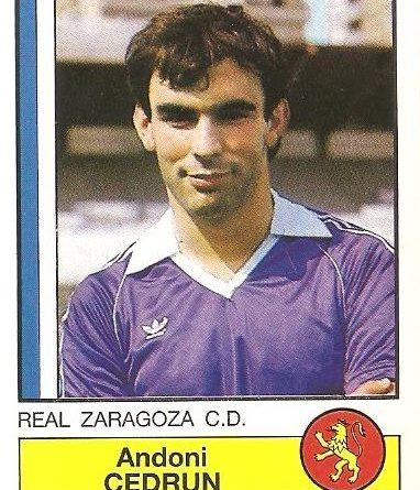 Fútbol 87. Cedrún (Real Zaragoza). Ediciones Panini.