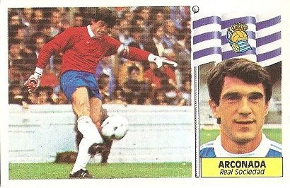 Liga 86-87. Arconada (Real Sociedad). Ediciones Este.
