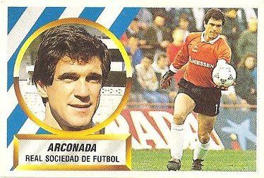 Liga 88-89. Arconada (Real Sociedad). Ediciones Este.