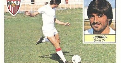 Liga 84-85. Curro (Sevilla C.F.). Ediciones Este.