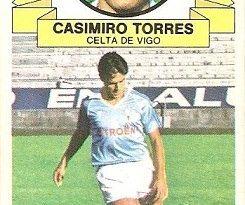 Liga 85-86. Fichaje Nº 36 Casimiro Torres (Real Club Celta de Vigo). Ediciones Este.
