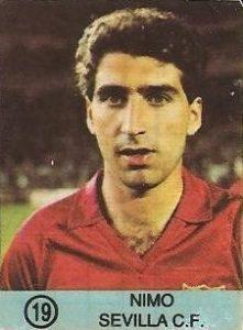1983-84 Super Campeones. Nimo (Sevilla C.F.). (Ediciones Gol).