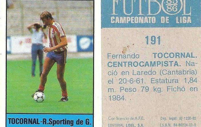 Fútbol 85-86. Campeonato de Liga. Tocornal (Real Sporting de Gijón). Editorial Lisel.