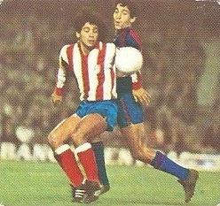 Liga 82-83. Hugo Sánchez (At. Madrid). Ediciones Este.