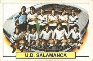 Liga 83-84. Alineación U.D. Salamanca (U.D. Salamanca). Ediciones Este.