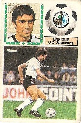 Liga 83-84. Enrique (U.D. Salamanca). Ediciones Este.