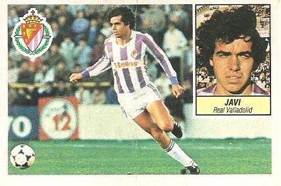 Liga 84-85. Javi (Real Valladolid). Ediciones Este.