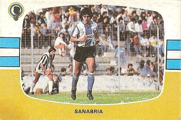 Liga 84-85. Sanabria (Hércules C.F.). Cromos Cano.