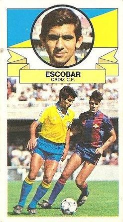 Liga 85-86. Escobar (Cádiz C.F.). Ediciones Este.