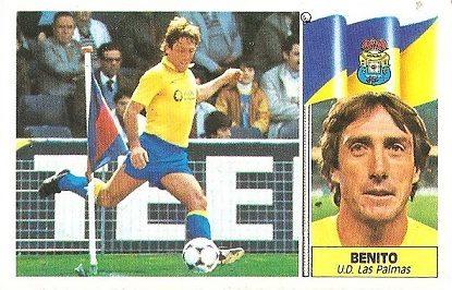 Liga 86-87. Benito (U.D. Las Palmas). Ediciones Este.