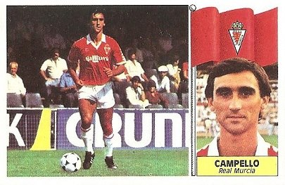 Liga 86-87. Campello (Real Murcia). Ediciones Este.