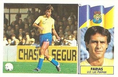 Liga 86-87. Farias (U.D. Las Palmas). Ediciones Este.