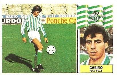 Liga 86-87. Gabino (Real Betis). Ediciones Este.