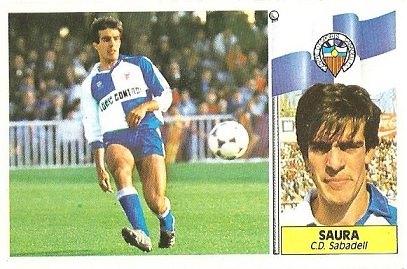Liga 86-87. Saura (Centro de Deportes Sabadell). Ediciones Este.