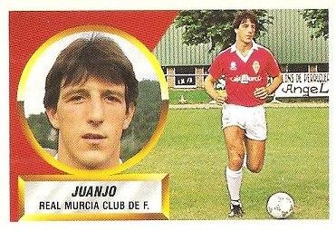 Liga 88-89. Juanjo (Real Murcia). Ediciones Este.
