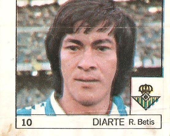 Super Cromos Los Mejores del Mundo (1981). Diarte (Real Betis). Chicle Fútbol Boomer.
