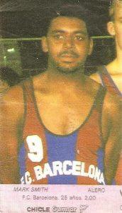 Liga Baloncesto 1985-1986. Mark Smith (F.C. Barcelona). Chicle Gumtar.