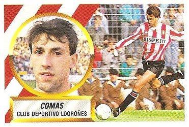 Liga 88-89. Comas (C.D. Logroñés). Ediciones Este.