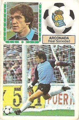 Liga 83-84. Arconada (Real Sociedad). Ediciones Este.