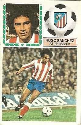 Liga 83-84. Hugo Sánchez (Atlético de Madrid). Ediciones Este.