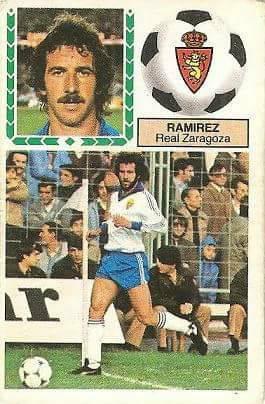 Liga 83-84. Ramírez (Real Zaragoza). Ediciones Este.