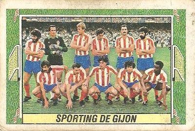 Liga 84-85. Alineación Sporting de Gijón (Sporting de Gijón). Ediciones Este.