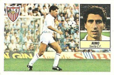 Liga 84-85. Nimo (Sevilla C.F.). Ediciones Este.