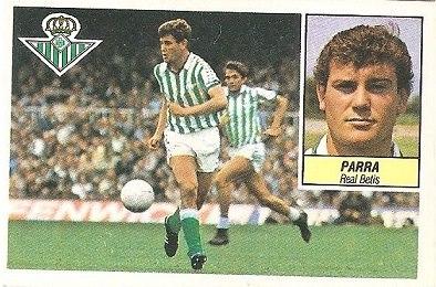 Liga 84-85. Parra (Real Betis). Ediciones Este.
