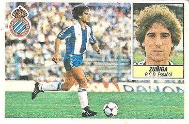 Liga 84-85. Zuñiga (R.C.D. Español). Ediciones Este.