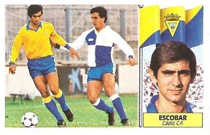 Liga 86-87. Escobar (Cádiz C.F.). Ediciones Este.