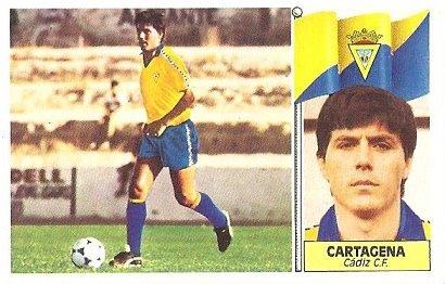 Liga 86-87. Fichaje Nº 14 Cartagena (Cádiz C.F.). Ediciones Este.