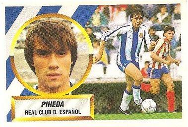 Liga 88-89. Pineda (R.C.D. Español). Ediciones Este.