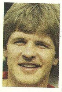 Eurocopa 1984. Molby (Dinamarca) Editorial Fans Colección.