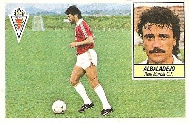 Liga 84-85. Albalalejo (Real Murcia). Ediciones Este.
