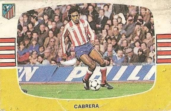Liga 84-85. Cabrera (Atlético de Madrid). Cromos Cano.
