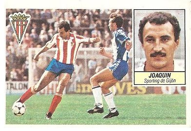Liga 84-85. Joaquín (Sporting de Gijón). Ediciones Este.