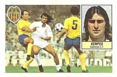 Liga 84-85. Kempes (Valencia C.F.). Ediciones Este.