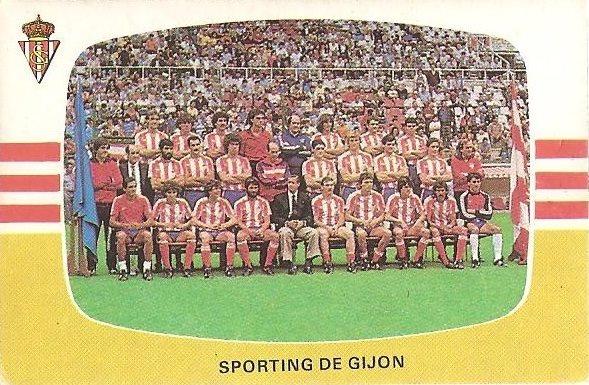 Liga 84-85. Plantilla Real Sporting de Gijón (Real Sporting de Gijón). Cromos Cano.