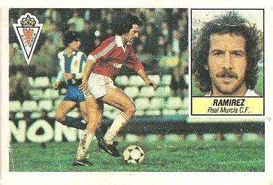 Liga 84-85. Ramírez (Real Murcia). Ediciones Este.