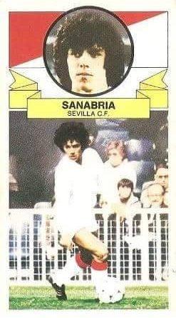 Liga 85-86. Fichaje Nº 10 Sanabria (Sevilla C.F.). Ediciones Este.