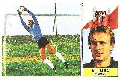 Liga 86-87. Villalba (Sevilla C.F.). Ediciones Este.