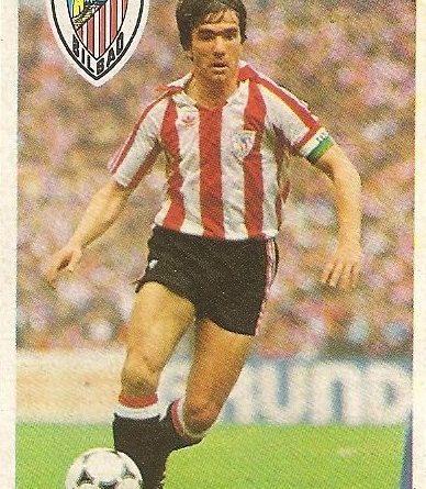 Diego Armando Maradona. Sus driblings. Sus goles. Liga 84-85. Dani (Ath. Bilbao). Cromo Esport.