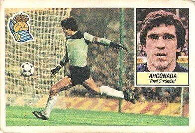 Liga 84-85. Arconada (Real Sociedad). Ediciones Este.