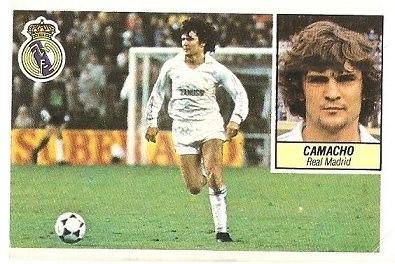 Liga 84-85. Camacho (Real Madrid). Ediciones Este.