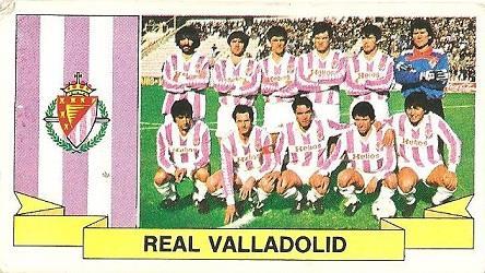 Liga 85-86. Alineación Real Valladolid (Real Valladolid). Ediciones Este.