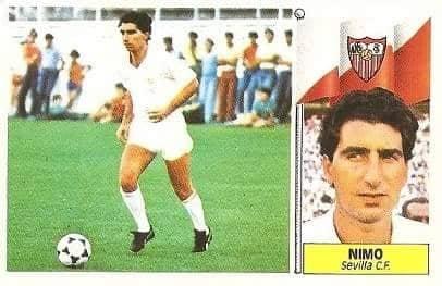 Liga 86-87. Nimo (Sevilla C.F.). Ediciones Este.
