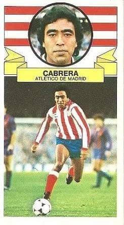 Liga 85-86. Cabrera (Atlético de Madrid). Ediciones Este.