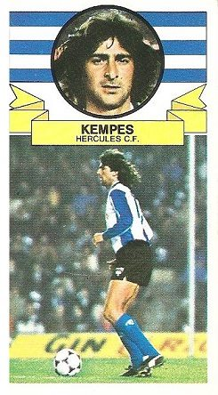 Liga 85-86. Kempes (Hércules C.F.). Ediciones Este.