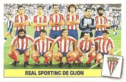 Liga 86-87. Alineación Real Sporting de Gijón (Real Sporting de Gijón). Ediciones Este.
